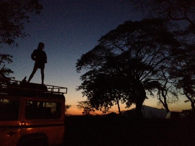 Ida op de LR voor Mt Meru