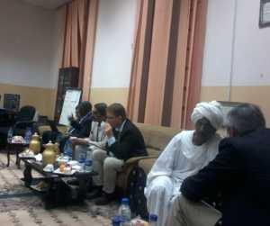 Theetijd in de medische faculteit in Khartoum